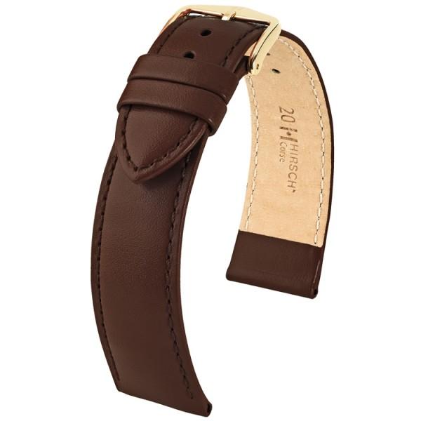 Hirsch horlogeband - CORSE - 20mm BRUIN - M