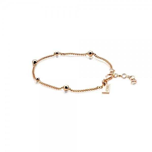Zinzi Armband Dames Gourmetschakel Bolletjes ZIA987R Roséverguld Zilver