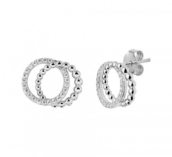 Zilveren Ringen Oorbellen - 1329247