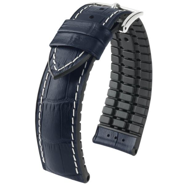 Hirsch horlogeband George L 22mm Donkerblauw