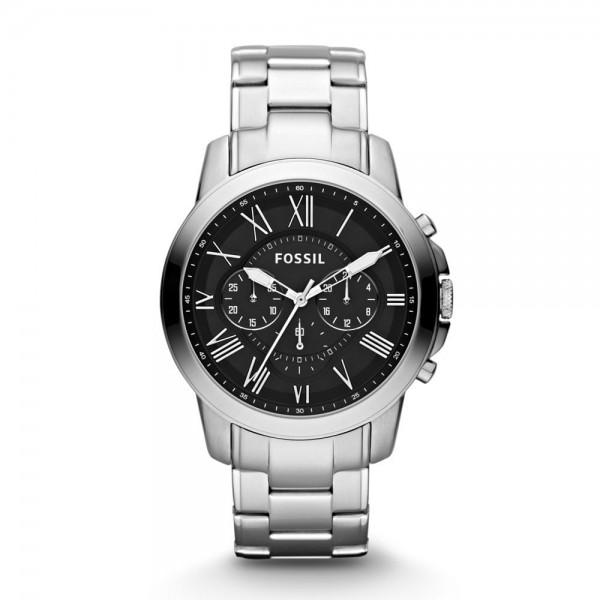 Fossil Grant Herenhorloge Chronograaf FS4736IE Zilverkleurig Zwart