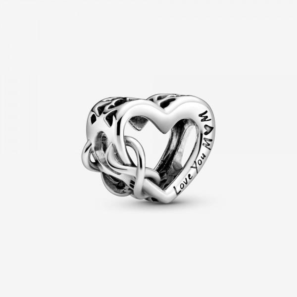 Pandora bedel 798825C00 Love You Mum Infinity Heart - zilver