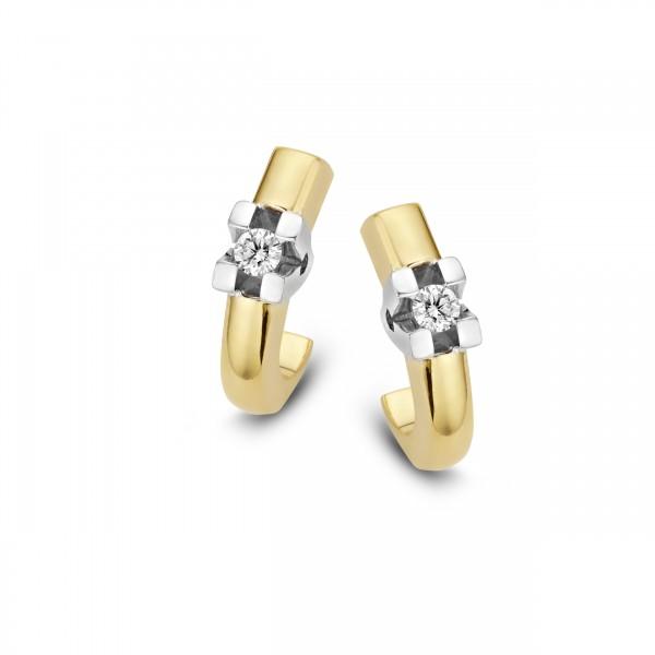 Briljant - Volonta Gouden Oorknoppen 2x0,05crt Diamant