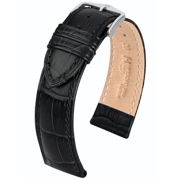 Hirsch horlogeband - Duke Zwart L - 26mm