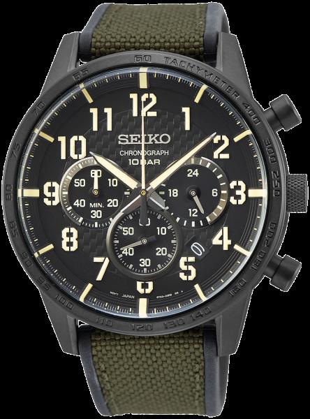Seiko herenhorloge SSB369P1 chronograaf
