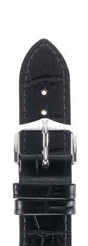 Hirsch Louisianalook Horlogebandje14mm 03427150-1-14 Zwart